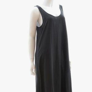 Black Silk Maxi Dress